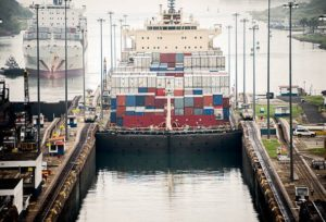 Davenport Laroche container shipping at Panama Canal